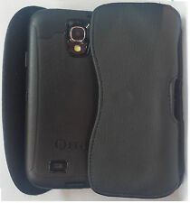 FOR SAMSUNG GALAXY S4 ACTIVE BELT CLIP HOLSTER LEATHER CASE FIT OTTERBOX CASE ON