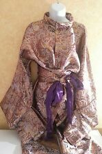 Geisha Metallic Shogun Kimono Style Robe Dress Gown Bridal Wedding