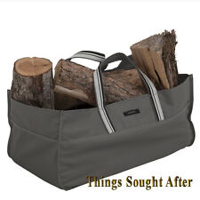 JUMBO LOG TOTE for FIREWOOD Fire Wood Canvas Carrier Bag Holder Rack Bag RAVENNA