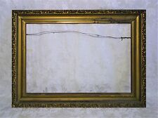 "Antique 19th Century Ornate Wood Baroque Gold Gilt Gesso Frame Fits size 27""x18"""