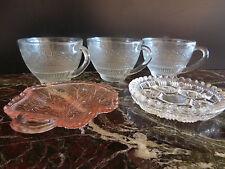 tasses coupelles en verre art nouveau vintage CERAMIC by PN
