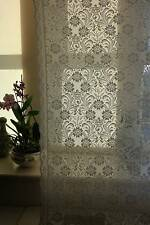Laura Ashley white Cotton Lace Curtain c1900s period design Yardage sold per met