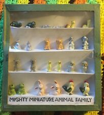 Complete Set - Mighty Miniature Animal Family Porcelain Figures
