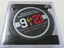 2008 BOBBY HULL & STAN MIKITA NIGHT BLACKHAWKS OFFICIAL SEALED GAME PUCK