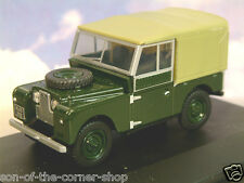 "OXFORD DIECAST 1/43 LAND ROVER SERIES 1 I 88"" CANVAS TOP BRONZE GREEN LAN188009"