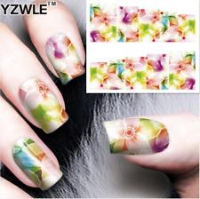 Nail Art Water Decals Stickers Transfers Pretty Flowers Gel Polish (8167)