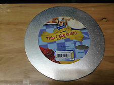 """Kingfisher 10""""/25cm Thin Round Cake Board Foil Covered & Wrapped. Home Baking."""