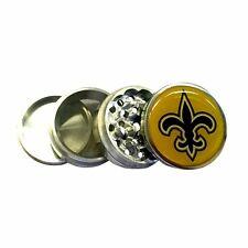 """New Orleans Saints 2.25"""" Kitchen Herb Spice Tobaco Grinder 4 Piece Metal Crusher"""