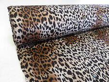 70cm quality STRETCH FABRIC animal LEOPARD print vintage kitsch rockabilly