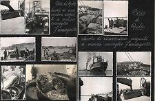 35 fotografie lavori escavazione PORTO di GELA (Caltanissetta) metà anni '80