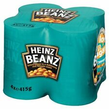 HEINZ BAKED BEANS in tomato sauce 4 x 415g tins tinned food 4pk pack - toast