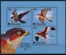 Gibraltar 2001 MNH SS, Birds of Prey, Falcon, Eagle