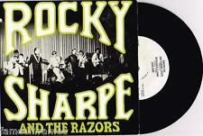 "ROCKY SHARPE AND THE RAZORS - RARE 7"" 45 E.P VINYL RECORD w PICT SLV - 1976"