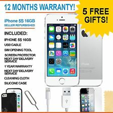 Apple IPHONE 5S - 16 GB-bianco / argento (sbloccato) - GRADE A Bundle