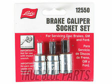 Lisle Tools 12550 Brake Caliper Socket Set For Servicing Disk Brakes, GM & Ford