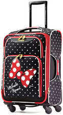 "American Tourister Disney Softside 21"" Spinner Carry On - Minnie Mouse Red Bow"