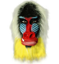 Rubber Overhead Mask - Baboon - Rafiki Fancy Dress
