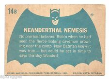 1966 Topps Batman Blue Bat with Bat Cowl Back (14B) Neanderthal Nemesis