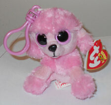 Ty Beanie Boos Key Clip ~ PRINCESS the Poodle Dog (RED TAG) MINT with MINT TAGS