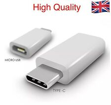 Type-C Male 3.1 to Micro USB Female Converter USB-C Adapter - White