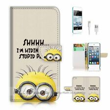 iPod Touch 5 iTouch 5 Flip Wallet Case Cover! P2153 Stupid Minion