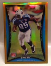 2008 Bowman Chrome William Hayes Gold Refractor Rookie RC #D /50   Titans