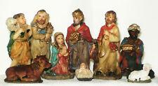Krippenfiguren, 10tlg, Jesuskind, Weihnachten, Krippe, bunt, 7cm