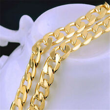 Fancy Luxury Classic Unisex 14K Yellow Gold Filled Necklace Link Chain 19.37""