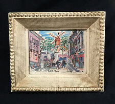 Vintage Paris France Small Framed Print Moulin De La Galette - PRIORITY MAIL