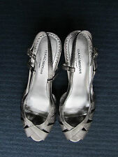 Grey - Bronze Wedge Heel Sandals Shoes - Isaac Mizrahi - BNWOB - Size 7US UK 4.5
