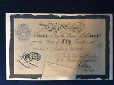 1881 antique bank of England money signed