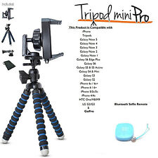iBOLT Flexible Tripod Mini Pro w/Selfie Shutter Remote for iPhone/Galaxy & GoPro
