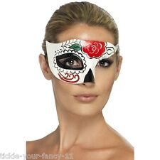 Women's Day Of The Dead Half Eye Mask Masquerade Fancy Dress Halloween Party