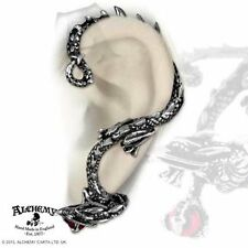 Alchemy UL17 Oriental Dragon Ear Wrap Single Earring for Left Ear Pewter Crystal