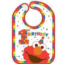 Sesame Street Elmo 1st Birthday Vinyl Bib ~ Party Decorations Favor Supplies