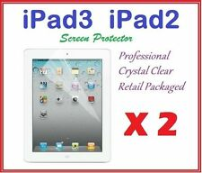 2 X NEW iPAD iPAD2 iPAD3 ULTRA CLEAR LCD SCREEN PROTECTOR CRYSTAL CLEAR FILM