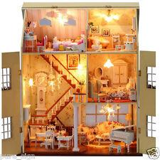 Progetto fai da te Handcraft in miniatura KIT LUCI LED MUSICA casa di bambole in legno Villa