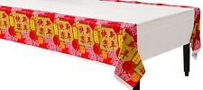 "Chinese New Year ""Blessings"" Plastic Tablecover 137cm x 259cm - Oriental"