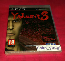 YAKUZA 3 SONY PS3 NEUF SOUS BLISTER VERSION FRANCAISE