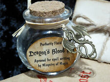Dragon's Blood Inkwell in the Owl Post Box with ink recipe. Harry Potter gift.