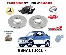 FOR SUZUKI JIMNY 1.3i JLX 16v 2001-  FRONT BRAKE DISCS SET + DISC PADS set