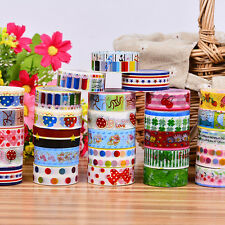 10pcs Washi Paper Scrapbooking Decorative Sticker Masking Adhesive Tape Roll New