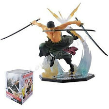 "ONE PIECE/ FIGURA RORONOA ZORO 17 CM- ANIME FIGURE BATTLE VER.  6,7"" IN BOX"