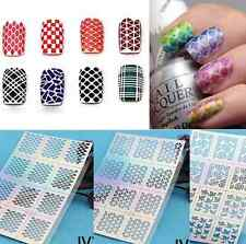 1 Sheet Nail Art Manicure Stencil Stickers Stamping Vinyls Easy Use Random Guide