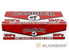 5x Boxes 1000 Count ( Gambler Full Flavor Red 100's 100mm ) Cigarette Tubes