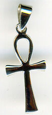 "925 Sterling Silver Small Plain Ankh Pendant    Length  27mm  1""  including bail"