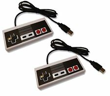 2 x PC USB NES Retro Style Control Joy Pad Controller UK Seller