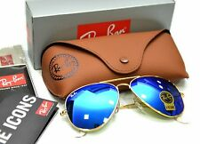 Ray-Ban-Aviator-Sunglasses-RB3025-Matte-Gold-58mm-Mirror-Blue-Lens  Ray-Ban-Avi