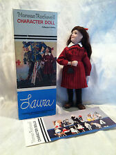 """Vintage 1984 Norman Rockwell """"Laura"""" Collector's Edition Porcelain Doll In Box"""