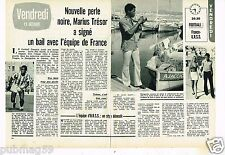 Coupure de presse Clipping 1972 (2 pages) Marius Trésor